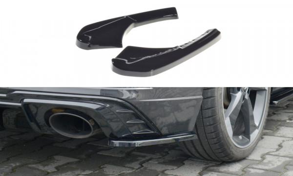 Heck Ansatz Flaps Diffusor passend für Audi RS3 8V FL Sportback schwarz Hochglanz