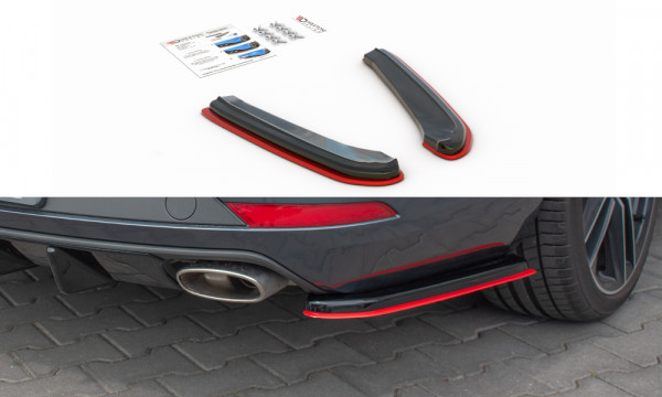 Heck Ansatz Flaps Diffusor passend für V.2 Seat Leon Mk3 Cupra ST Facelift schwarz Hochglanz
