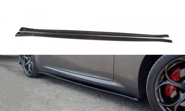 Seitenschweller Ansatz passend für ALFA ROMEO GIULIA VELOCE schwarz matt