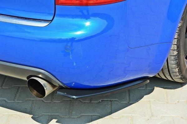 Heck Ansatz Flaps Diffusor für AUDI S4 B6 Avant schwarz matt