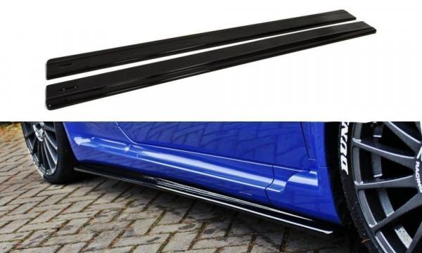 Seitenschweller für Ansatz Cup Leisten ALFA ROMEO 147 GTA schwarz Hochglanz