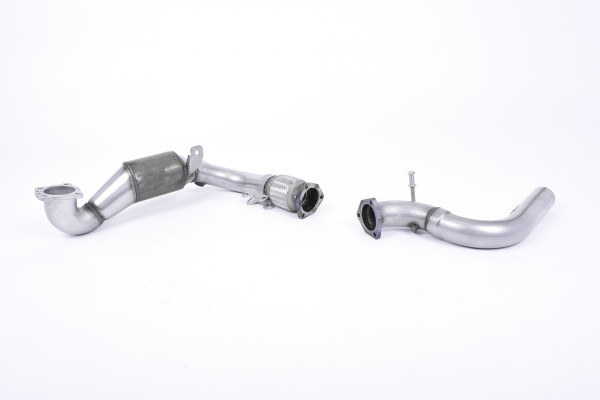 Milltek SSXFD237 Cast Downpipe with Race Cat - Ford Fiesta Mk8 1.0T EcoBoost ST-Line 3 & 5 Door (No