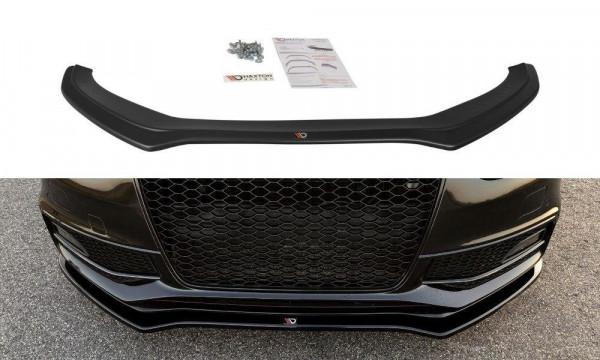 Front Ansatz V.2 passend für Audi S4 / A4 S-Line B8 FL schwarz matt