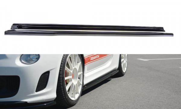Seitenschweller Ansatz passend für passend für FIAT 500 ABARTH MK1 schwarz matt schwarz matt