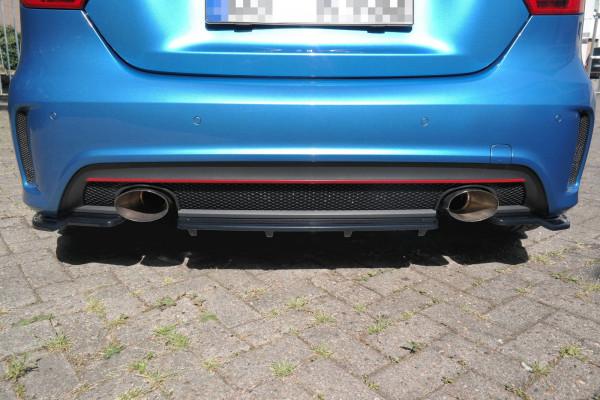Mittlerer Diffusor Heck Ansatz passend für im DTM LOOK Mercedes W176 AMG-LINE vor Facelift schwarz H