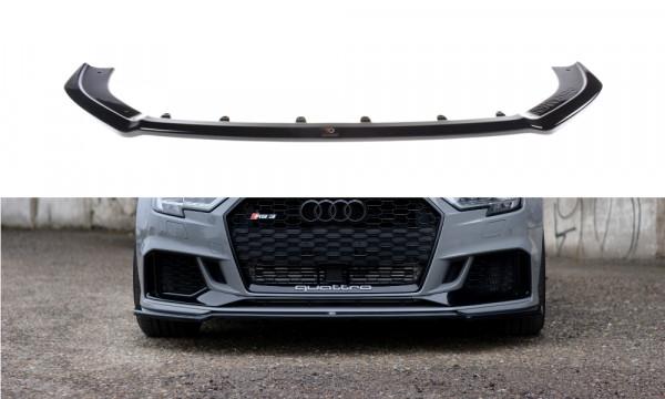Front Ansatz V.2 passend für Audi RS3 8V FL Sedan schwarz Hochglanz