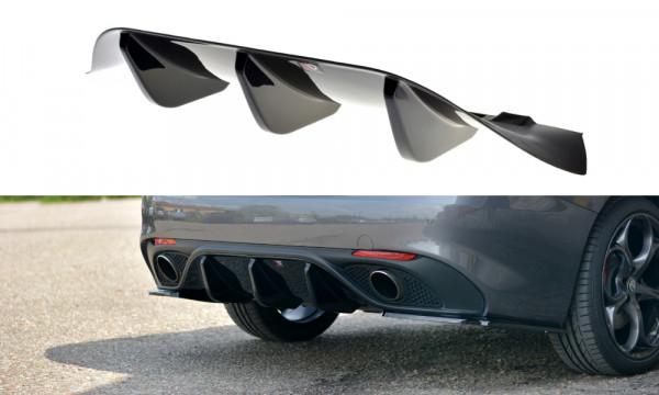 Diffusor Heck Ansatz passend für ALFA ROMEO GIULIA VELOCE Carbon Look
