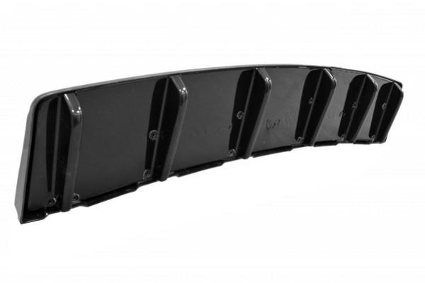Mittlerer Diffusor Heck Ansatz für AUDI S6 C7 AVANT im DTM LOOK schwarz Hochglanz