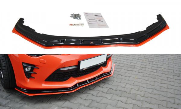 Front Ansatz V.4 passend für TOYOTA GT86 FACELIFT schwarz Hochglanz