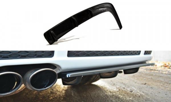 Diffusor Heck Ansatz für AUDI RS4 B5 DTM LOOK schwarz Hochglanz