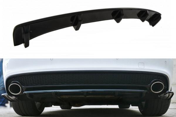 Mittlerer Diffusor Heck Ansatz für Audi A5 S-Line 8T FL Coupe / Sportback DTM LOOK schwarz matt