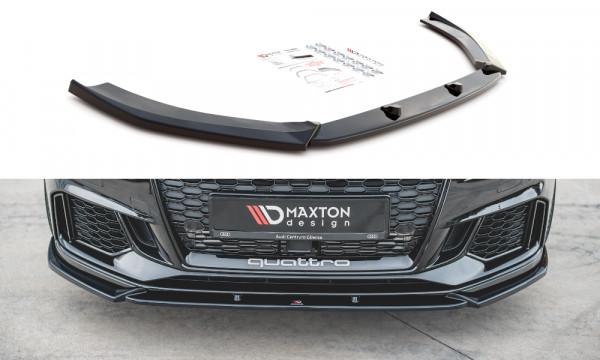 Front Ansatz V.4 passend für Audi RS3 8V FL Sportback schwarz Hochglanz