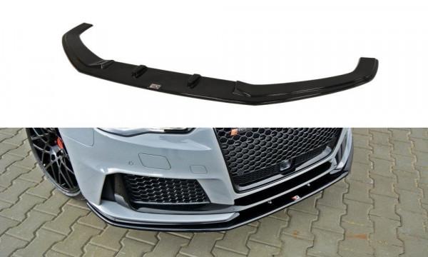 Front Ansatz für V.2 Audi RS3 8V Sportback schwarz Hochglanz