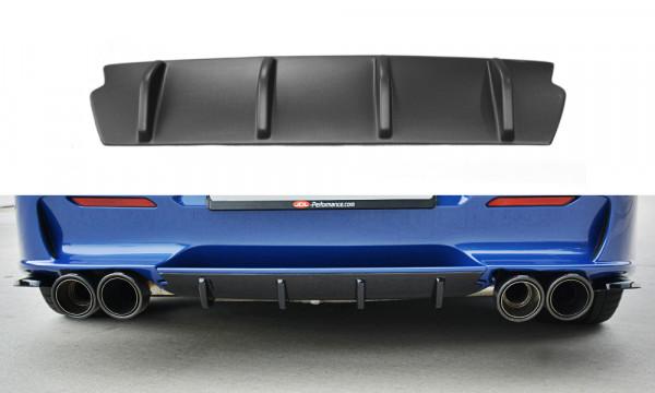 Diffusor Heck Ansatz passend für ALFA ROMEO 156 GTA SW schwarz Hochglanz