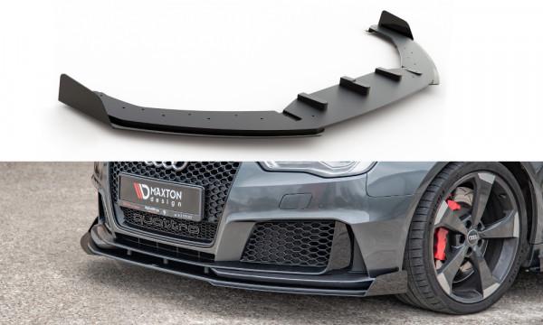 Robuste Racing Front Ansatz passend für + Flaps Audi RS3 8V Sportback schwarz Hochglanz