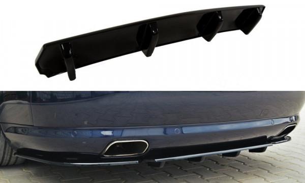 Mittlerer Diffusor Heck Ansatz für Audi A8 W12 D3 DTM LOOK schwarz Hochglanz