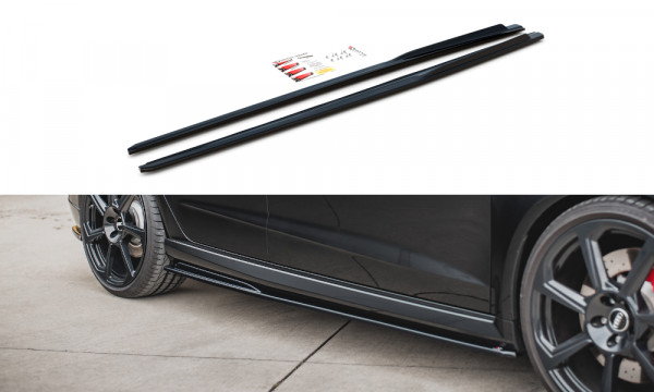 Seitenschweller Ansatz V.2 passend für Audi RS3 8V Sportback Facelift schwarz Hochglanz
