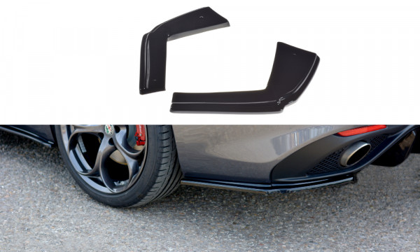 Heck Ansatz Flaps Diffusor passend für ALFA ROMEO GIULIA VELOCE Carbon Look