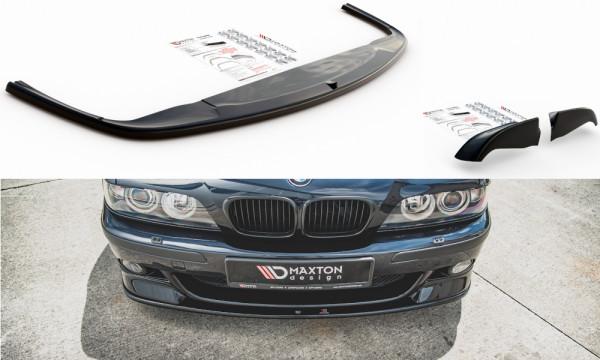 Front Ansatz passend für Seite + Front Ansatz passend für BMW M5 E39 schwarz Hochglanz
