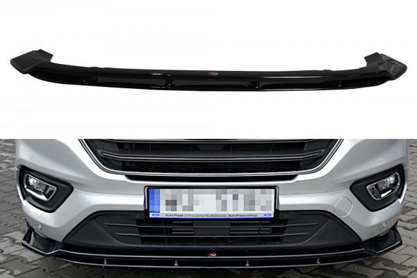Front Ansatz passend für Ford Transit Custom Mk.1 FL schwarz matt