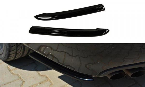Heck Ansatz Flaps Diffusor für Audi A4 B8 schwarz matt