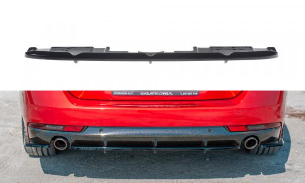 Mittlerer Diffusor Heck Ansatz passend für(mit einem vertikalem balken) Peugeot 508 SW Mk2 schwarz
