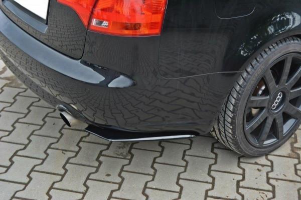 Heck Ansatz Flaps Diffusor für AUDI A4 B7 schwarz Hochglanz
