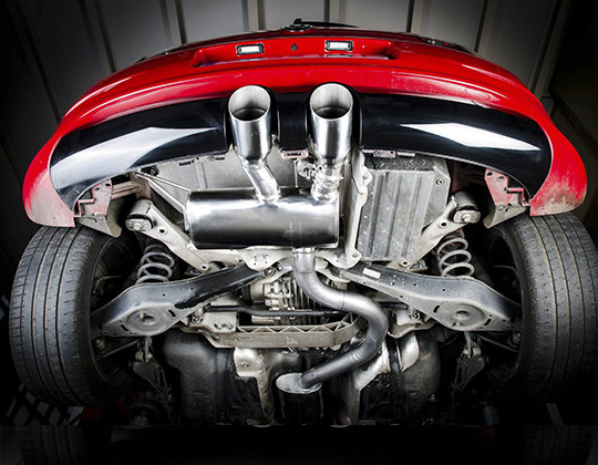 ROAR 76mm exhaust system with flap, Volkswagen Golf V R32, type 1K - 3.2l 4Motion