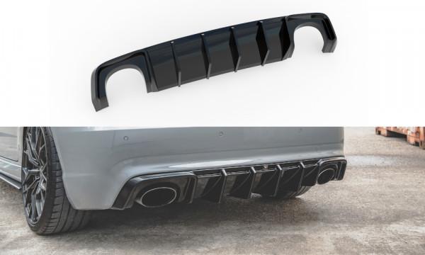 Diffusor Heck Ansatz passend für Audi RS3 8V Sportback schwarz Hochglanz