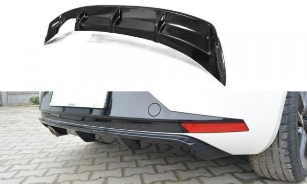 Diffusor Heck Ansatz für SEAT LEON III FR Carbon Look