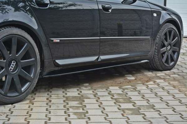 Seitenschweller für Ansatz Cup Leisten Audi S4 / A4 / A4 S-Line B6 / B7 Carbon Look