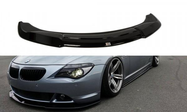 Front Ansatz für BMW 6er E63 / E64 (vor Facelift) V.2 schwarz Hochglanz
