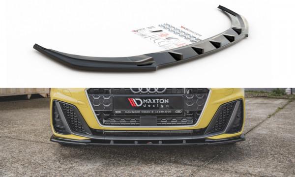 Front Ansatz V.1 passend für Audi A1 S-Line GB schwarz Hochglanz