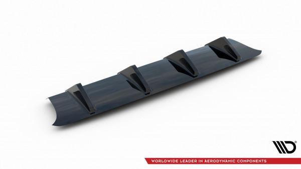 Diffusor Heck Ansatz passend für Audi S3 8V FL Hatchback schwarz Hochglanz