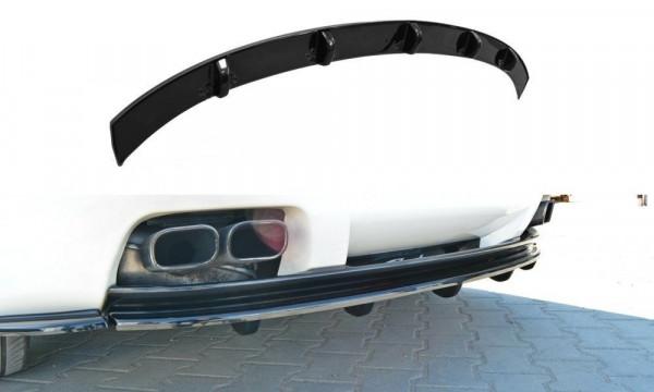 Mittlerer Diffusor Heck Ansatz für Alfa Romeo Brera im DTM LOOK schwarz Hochglanz