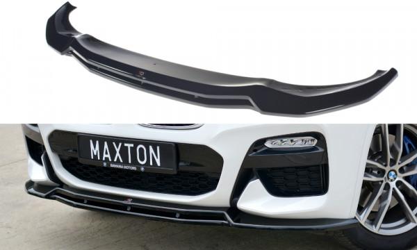 Front Ansatz V.1 passend für BMW X3 G01 M Paket schwarz Hochglanz