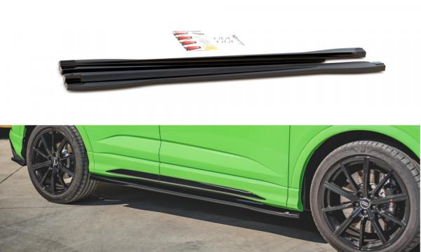 Seitenschweller Ansatz passend für Audi RSQ3 F3 schwarz Hochglanz