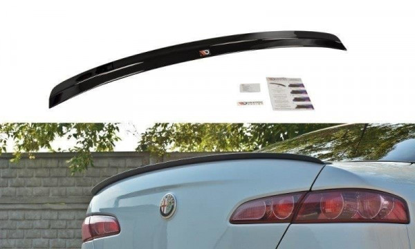 Spoiler CAP für ALFA ROMEO 159 schwarz Hochglanz