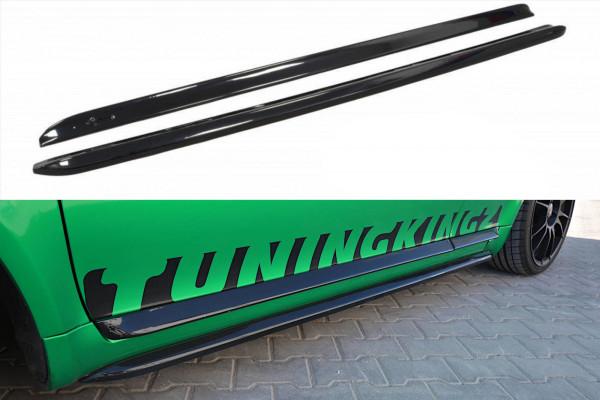 Seitenschweller für Ansatz Cup Leisten AUDI S3 8L schwarz Hochglanz