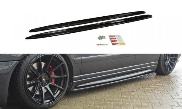 Seitenschweller für Ansatz Cup Leisten AUDI S4 B5 schwarz Hochglanz
