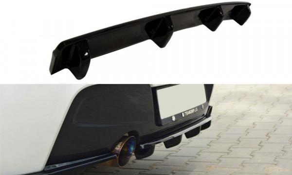 Mittlerer Diffusor Heck Ansatz für BMW 1er F20/F21 M-Power im DTM LOOK Carbon Look