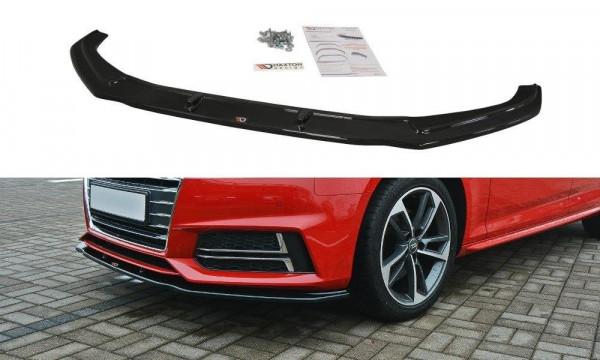 Front Ansatz V.2 passend für Audi S4 / A4 S-Line B9 schwarz Hochglanz