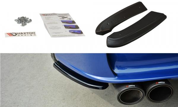 Heck Ansatz Flaps Diffusor passend für ALFA ROMEO 156 GTA SW schwarz matt