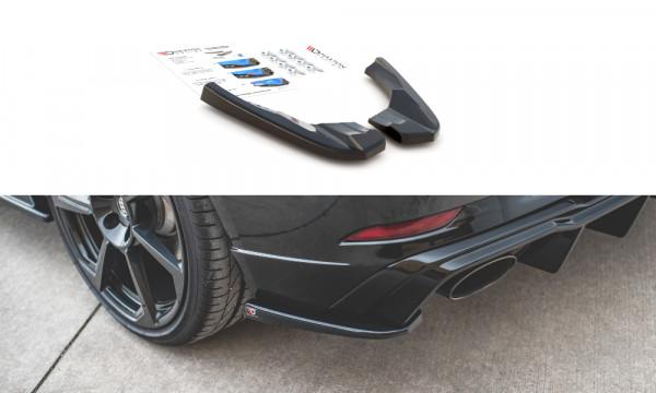 Heck Ansatz Flaps Diffusor V.2 passend für Audi RS3 8V Sportback Facelift schwarz Hochglanz