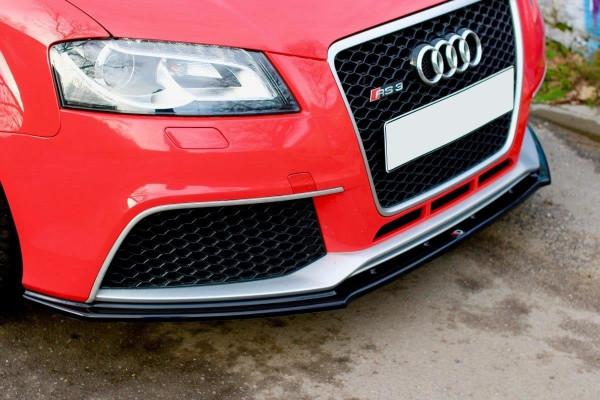 Front Ansatz V.1 passend für Audi RS3 8P schwarz Hochglanz