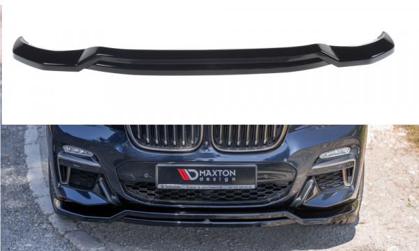 Front Ansatz passend für BMW X4 M-Paket G02 schwarz Hochglanz