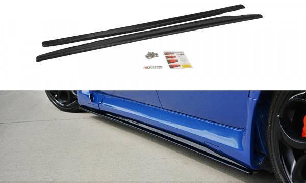 Seitenschweller Ansatz passend für ALFA ROMEO 156 GTA schwarz Hochglanz