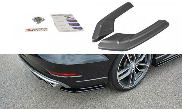 Heck Ansatz Flaps Diffusor passend für Audi S3 / A3 S-Line 8V FL Sedan Carbon Look