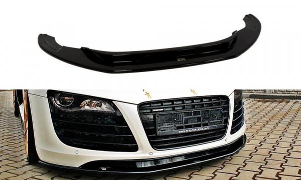 Front Ansatz für Audi R8 Mk.1 schwarz Hochglanz