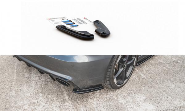 Heck Ansatz Flaps Diffusor V.1 passend für Audi RS3 8V Sportback schwarz Hochglanz